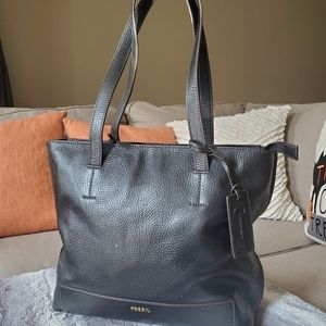 Fossil Madison Pebbled Leather Tote